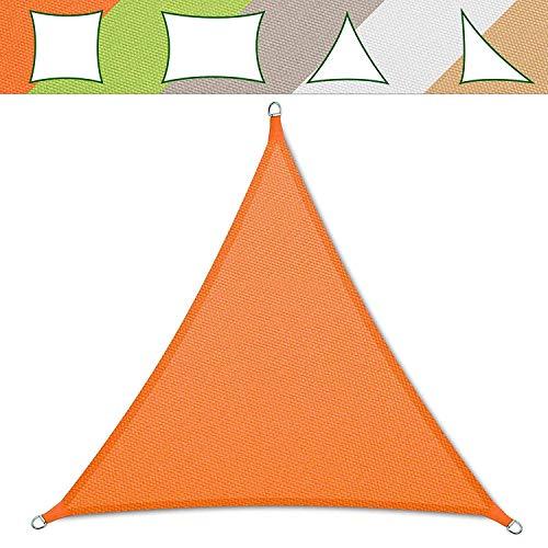 Sonnensegel Casa Pura® dreieckig in den Farben Verschiedenen | Material wasserdicht–maschinenwaschbar | Größe 5x 5x 5m | Dichte 160g pro m², Orange