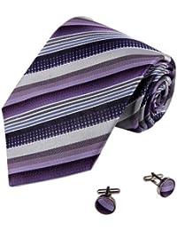 YAB2A15 multicolore rayures de la soie cravates 2PT par Y&G