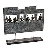 Casablanca - Skulptur/Dekofigzr - Skyline - Polyresin - Bronzeoptik - 38x43 cm