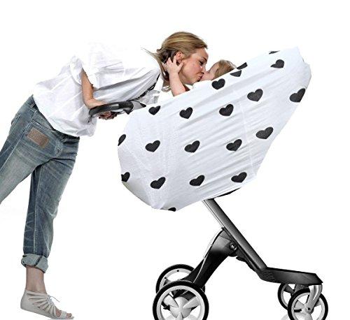 Baby Autositz Himmel, Still Bezug Schal, Baby Sicherheit Körbe Sonnenschutz Handtuch, Multi Infinity Stretch shawl-heart Muster