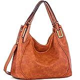 IN ANGEL Handtasche Damen Henkeltasche Umhängetasche Crossbody Hobo Tasche Schultertasche Damen PU Leder Handtasche für Frauen (L39cm * W16cm * H29cm) Braun