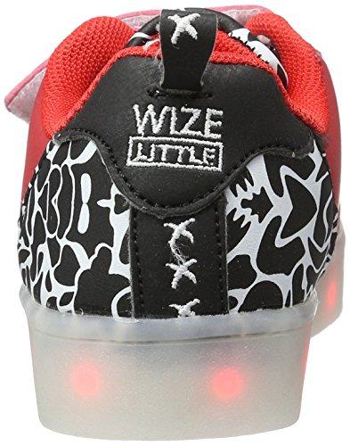 Wize & Ope Led-k03cam, chaussons d'intérieur mixte enfant Rot (Red Camo)