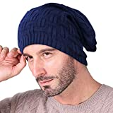 #5: Knotyy Beanie Caps, Woolen Caps, Knitted Slouchy Caps, Skull Cap for Men & Women (BLUE)