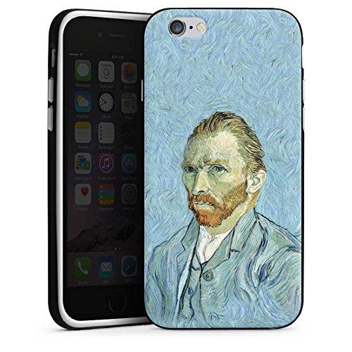 Apple iPhone 6 Plus Silicone Case Coque white - Self portrait, 1889 / Selbstportrait, 1889 Housse en silicone noir / blanc