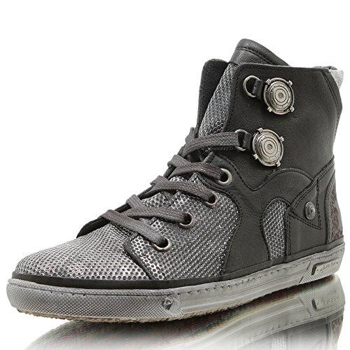 Felmini Damen Sneaker Low Braun Grün Gr. 37: