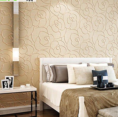 BIZHI 3D Horizontale Pastoral Non-Woven Wallpapers Wohnzimmer Schlafzimmer Venture House Wallpaper Aufkleber (0.53m * 10m), 2 (Horizontale Wallpaper)