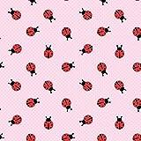 0,5m Jersey Marienkäfer auf Punkten rosa 5% Elasthan 95%