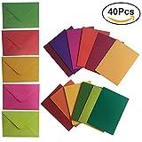 NUOLUX 40pcs schwere leere Anmerkungs-Karten und 5pcs Umschläge (gelegentliche Farbe)