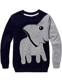 LitBud Niño pequeño sudadera con capucha de elefante Casual otoño sudadera con capucha camiseta Tops para niños 2 3 4 5 6 7 años