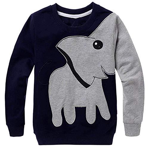 LitBud Kinder Jungen Sweatshirts für Kleinkind Elefant Halloween Sweatshirt Pullover Lässig Herbst T-Shirt Pullover Oberteile Kleidung Größe 4-5 Jahre