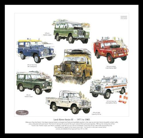Land Rover Legends Series 3Kunstdruck-223,5cm Hardtop-276,9cm Flugplatz Crash Rescue RAF HM Küstenwache 276,9cm Hardtop Metropolitan Police Hohe Kapazität Pick-Up Siii-serie