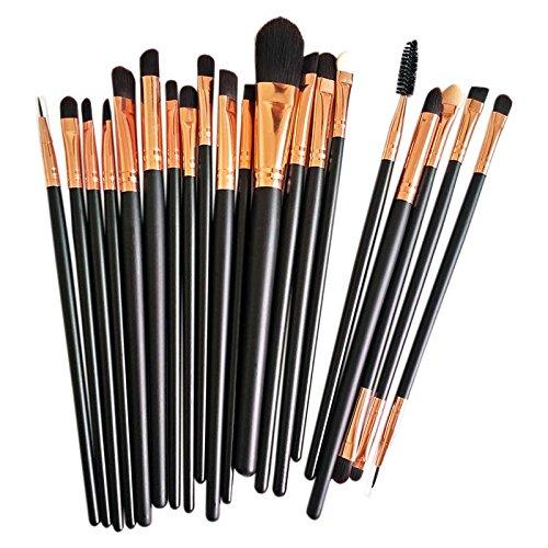 Hrph 20 pcs Maquillage Pinceaux Set Fondation Multi Function Eye Lip outil cosmétique