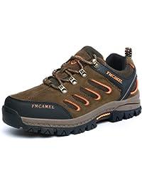 FMCAMEL Botas de senderismo de Piel para mujer man Botas de Senderismo s de ocio al Aire Libre Zapatos de Deporte Zapatillas de Senderismo cordones Trainer botas 39-47