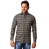 Club Fox Men's Cotton Checkered Shirt