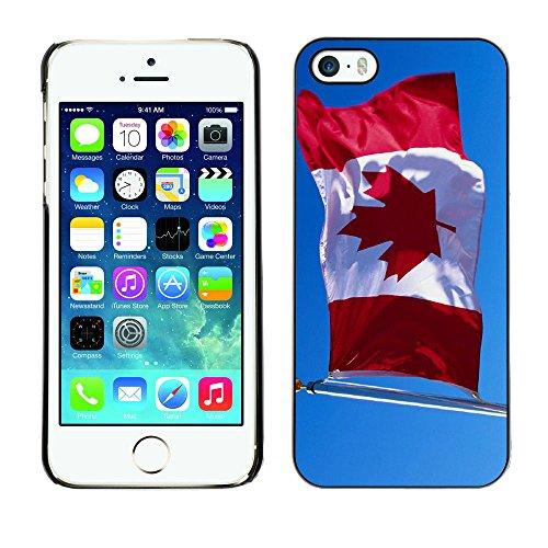 Graphic4You Vintage Uralt Flagge Von Kanada Kanadier Design Harte Hülle Case Tasche Schutzhülle für Apple iPhone 5 und 5S Design #8