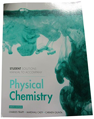 Atkins' Physical Chemistry: Student's Solutions Manual