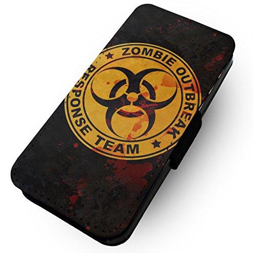 WTF | Zombie Outbreak Response | Kunstleder Flip-Telefon Fall |, Kunstleder, HTC One M8 (Htc M8 Flip-telefon Fall)
