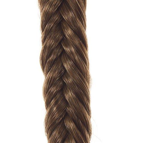 Mittelbraunes geflochtenes Haarband  Elastisches geflochtenes Haarband  