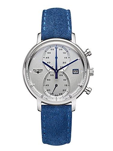 Elysee Minos Lady modische Damen-Uhr Wildleder Chronograph
