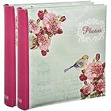 """2x Arpan """"pajarera rosa"""" de libro álbum de fotos/de imagen, con espacio para escritura para 2004x 15,24cm fotos"""