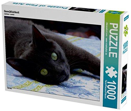 Preisvergleich Produktbild Gemütlichkeit 1000 Teile Puzzle quer: Katze Maya (CALVENDO Tiere)