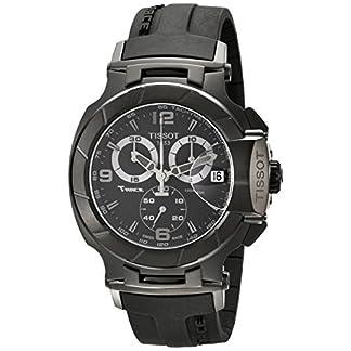 Tissot T048417370 – Reloj de Caballero de Cuarzo, Correa de Goma Color Negro