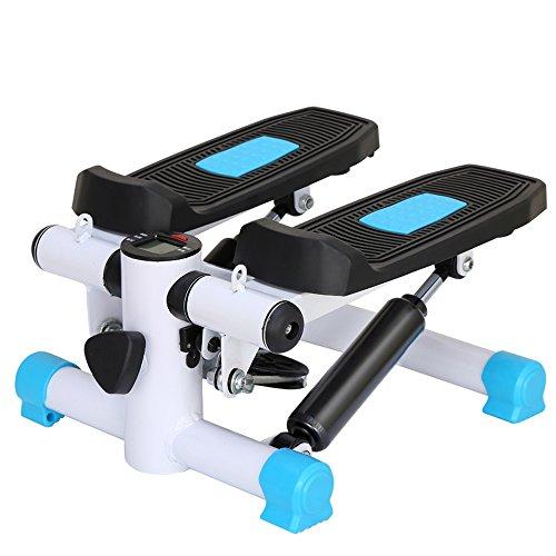 XXSS Fitnessgeräte, Home Climbing Stepper Mit Kalorienverbrauch Zähler Multifunktions Gewichtsverlust Kostenlose Installation Sportgeräte (Color : Blue)
