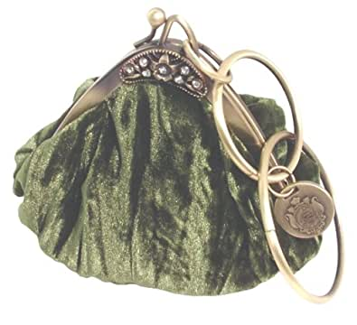 Wilton 01 Small Evening Bag With Bracelet Handle - Green