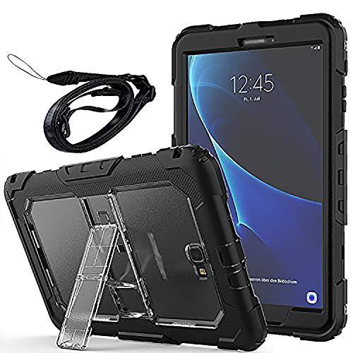 Newseego Coque Samsung Galaxy Tab A6 10.1 '', Étui de Protection Antichoc Corps Entier avec des Bretelles Kickstand Robuste pour Tablette Galaxy Tab A 10.1 '' (SM-T580 / T585) - Clair