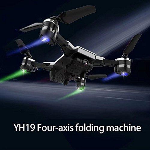 Cewaal Actualizado YH-19 Plegable Quadrocopter Drone con 720P de vídeo en vivo de la cámara, Track Fight 3D Roll Cool Led de Altitude Hold Advanced RC Flying Drone para adultos