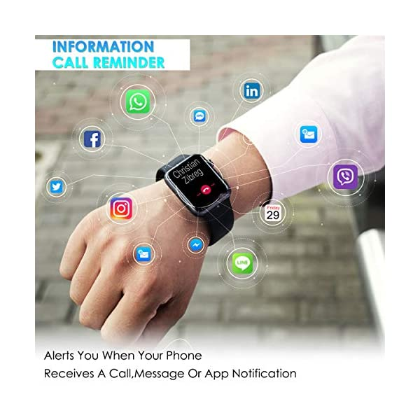 CHEREEKI Smartwatch Reloj Inteligente, Impermeable IP68 Pulsera Actividad con Ritmo Cardíaco, Reloj de Fitness con… 6