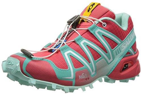 Salomon Women's Speed Cross 3 W Trail Running Shoe,Papaya/Softy Blue/Igloo Blue,5.5 M US