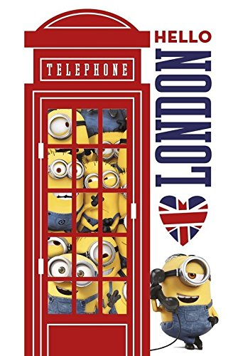 Minions Cabina Londres – Poster, 61 x 91.5 cm