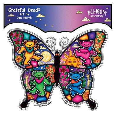 Dan Morris - Grateful Dead Dancing Butterfly Daisies Clouds Waves etiket Sticker Decal - 5