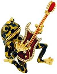 The Olivia Collection Trinket/Keepsake Guitar Playing Frog In Branded Box