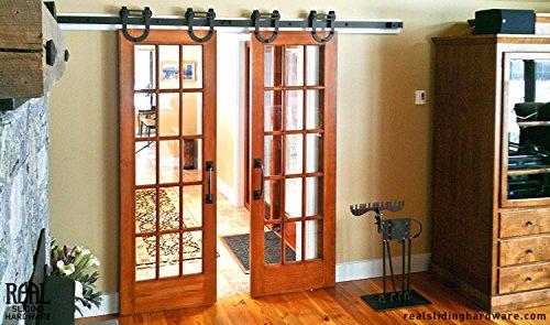 hahaemall 2m/2M moderno armadio scorrevole cuscinetto pesante doppio acciaio Barn-Porta