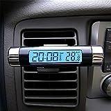 Folconroad uscita aria clip tipo auto auto orologio elettronico temperatura del termometro