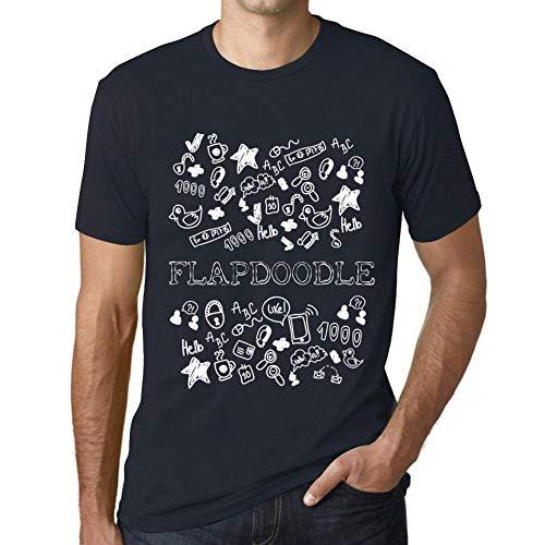 Flapdoodles Rock (Herren Tee Männer Vintage T Shirt Doodle Art FLAPDOODLE Marine)