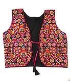 #9: Women's, girls embroidered, traditional, Kutch work jacket/shrug/koti.(Jacket,color : Black)