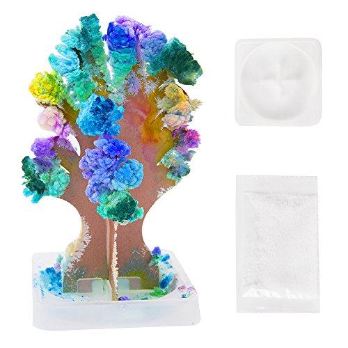 Magic Growing Árbol Navidad Regalo secreto de Papá Noel calcetín de Navidad decoración de papel niños ciencia juguetes regalo