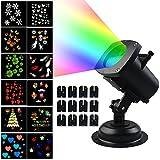 [Projektionslampe LED Weihnachtsbeleuchtung ] Schneeflocken Lichter 12 Austauschbare Muster für Weihnachten Wasserdichte IP44 Außenbeleuchtung Weihnachten Dekoration Laser Projektor Gartenlicht
