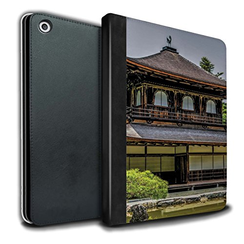 �lle/Case/Brieftasche für Apple iPad 9.7 (2017) Tablet/Ginkaku-Ji Tempel Muster/Innerer Frieden Kollektion ()