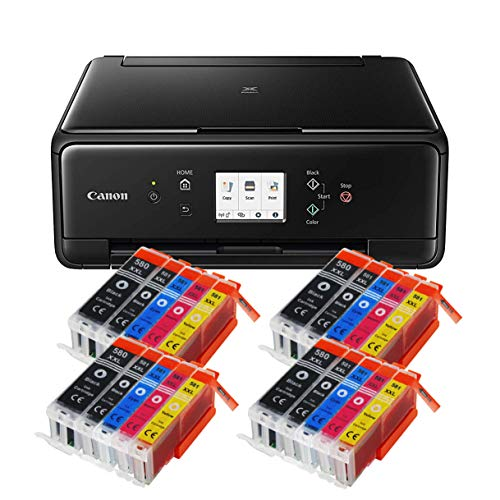 Canon Pixma TS6250 TS-6250 All-in-One 3-in-1 Farbtintenstrahl-Multifunktionsgerät (Drucker, Scanner, Kopierer, USB, WLAN, Apple AirPrint) Schwarz + 20er Set IC-Office XXL Tintenpatronen