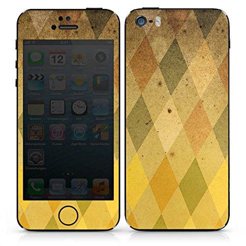 Apple iPhone SE Case Skin Sticker aus Vinyl-Folie Aufkleber Rauten Muster Vintage DesignSkins® glänzend