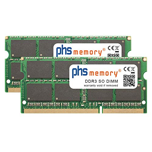 PHS-memory 16GB 2x8GB Kit RAM módulo QNAP TS-453B