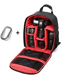 Sannysis® Cámara impermeable del morral para Canon para Nikon para Sony Rojo