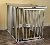 Callieway® Premium ALU Hundekäfig für Büro & Zuhause, Hundebox, ALU Transportkäfig Dogcrate Pro in Größe L (Large: 79cm (L) x 58cm (B -Türseite) x 65cm (H))