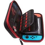 ButterFox étui de Transport pour Jeu Nintendo Switch, 19logements et 2Supports de Carte Micro SD–Rouge/Noir...