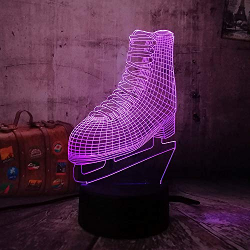 3D Nachtlicht Rollschuhe Optische Täuschung Lampe Led Tischlampe 16 Farben Ändern Touch Control Für Kinder Familie Ferienhaus Dekoration Valentinstag Geburtstag Beste Geschenk