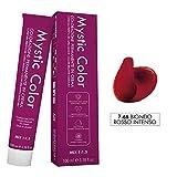 Mystic Color - Crème Colorante Permanente à l'Huile d'Argan et au Calendula - Coloration Longue Durée - Couleur Rouge Cuivré Léger 7.66-100ml